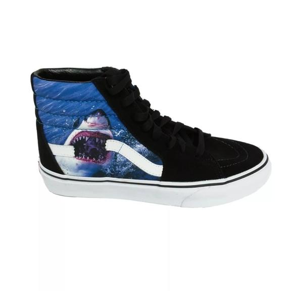 Vans Other - New Vans x Shark Week High Top Skating Sneakers